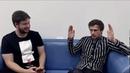 Мастер в библиотеке. Гость Сергей Мясоедов фронтмен команды КВН Михаил Дудиков.