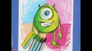 Детский мастер-класс - как нарисовать Майка из «Корпорация Монстров»