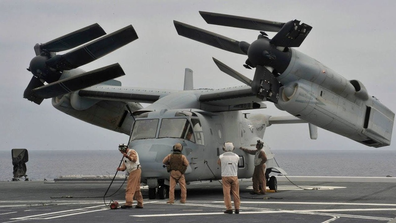 Конвертоплан MV-22 Osprey - настоящий трансформер (США)MV-22 Osprey tiltrotor - transformer (USA)