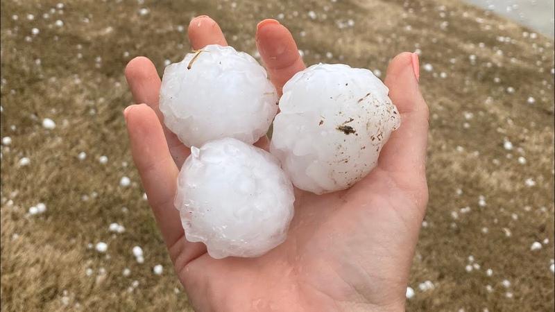 Oklahoma hailstorms Golf ball sized hail hits Tulsa Oklahoma City and surrounding areas
