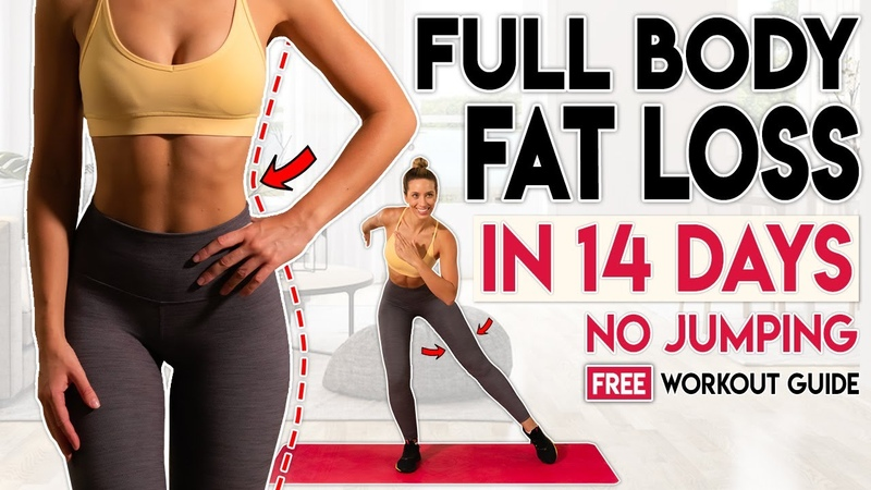 FULL BODY FAT LOSS in 14 Days NO JUMPING Free Home Workout Guide