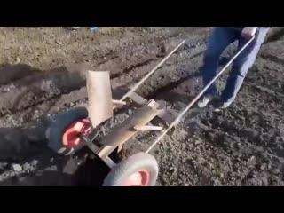 Как легко посадить картошку.