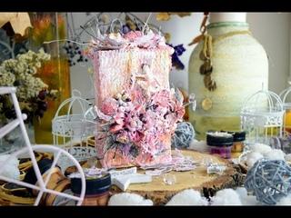 МК ванильная коробка|Step by Step Tutorial Mixed Media Vanilla Box by Ragozina Olya