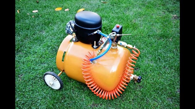 DO NOT THROW AWAY YOUR OLD REFRIGERATOR COMPRESSOR How to make Homemade air Silent Compressor