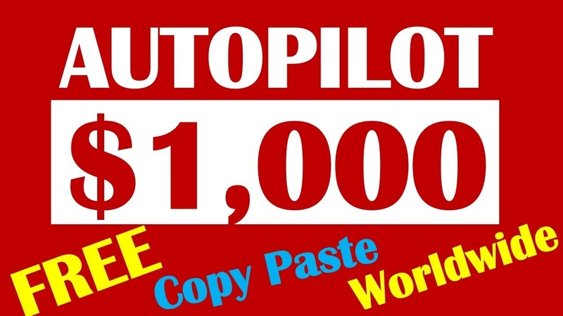 MAKE $1000 A Month From Home With Copy And Paste FREE Worldwide