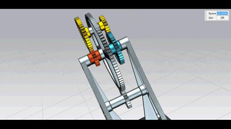 Рядовая кратная передача (модель)