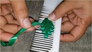 Ribbon Leaf Amazing Hand Embroidery Work With Comb Crafts Flower All Over Design