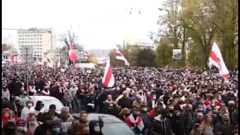 Протесты в Минске Лиде и Бресте