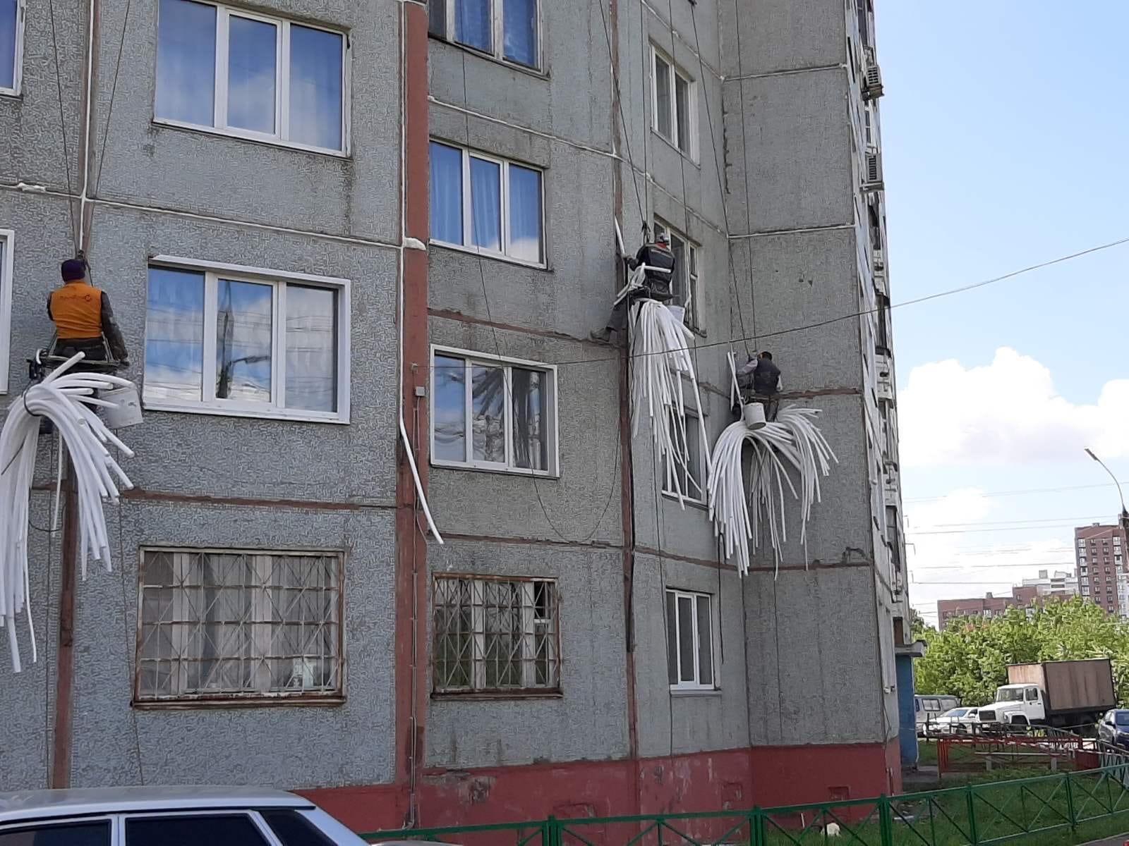 Ульяновская 6. Кап Ремонт: Герметизация межпонельных швов.